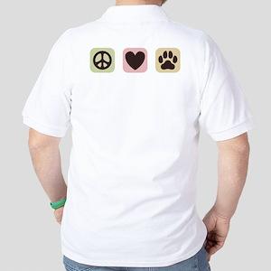 Peace Love Dogs [i] Golf Shirt